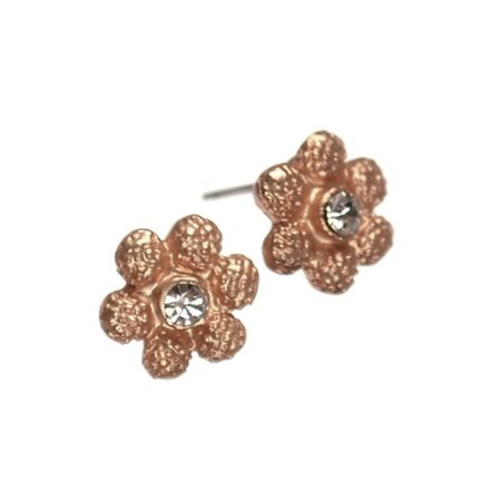Daisy Studs Silver  - Click to view a larger image