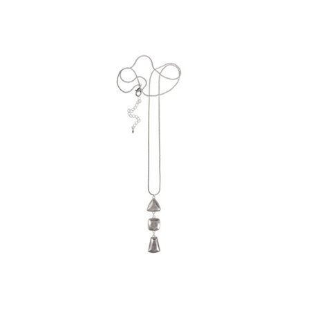 Trio Charm Pendant Necklace Silver  - Click to view a larger image