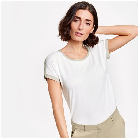 Gerry Weber Lurex Trimmed Top White  - Click to view a larger image