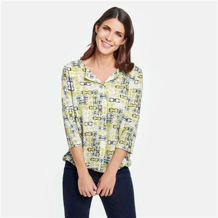 Gerry Weber Printed Top Yellow  - Click to view a larger image