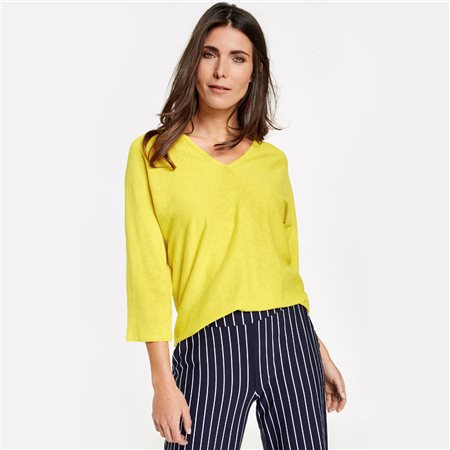 Gerry Weber Oversized Jumper Light Yellow  - Click to view a larger image