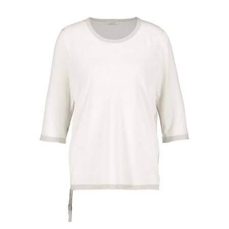Gerry Weber Jumper With Size Gathering Details White  - Click to view a larger image