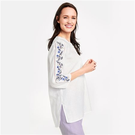 Gerry Weber Pure Linen Tunic White  - Click to view a larger image