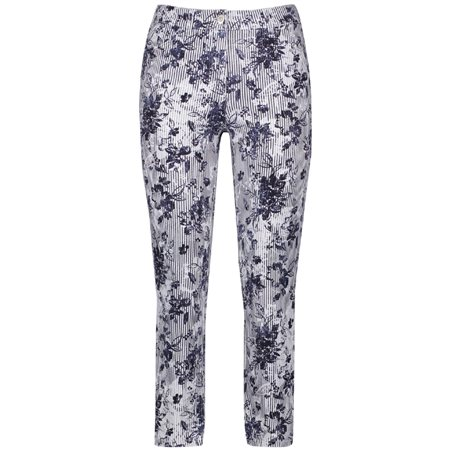 Gerry Weber Floral Striped Jeans Blue  - Click to view a larger image