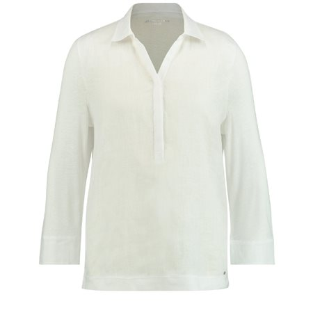 Gerry Weber Classic Linen Shirt White  - Click to view a larger image