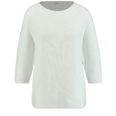 Gerry Weber Roundneck Textured Pullover White  - Click to view a larger image