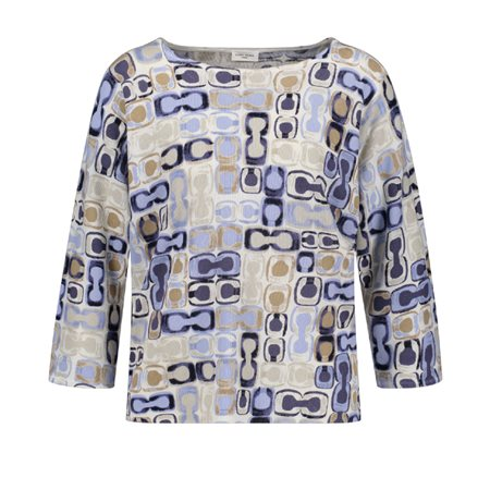 Gerry Weber Abstract Patterned Jumper Blue  - Click to view a larger image
