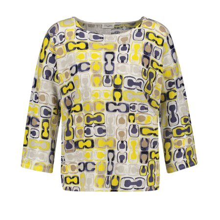 Gerry Weber Abstract Patterned Jumper Yellow  - Click to view a larger image