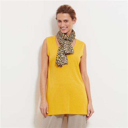 Masai Animal Print Scarf Yellow  - Click to view a larger image