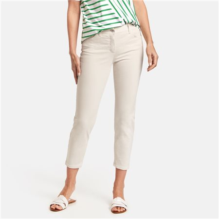 Gerry Weber Best4me 7/8 Crop Jeans Beige  - Click to view a larger image