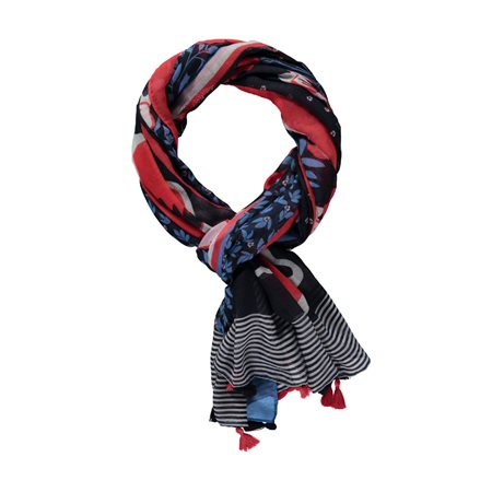 Gerry Weber Scarf With Tassels Blue  - Click to view a larger image