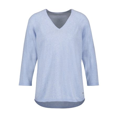 Gerry Weber Fine V-Neck Jumper Blue  - Click to view a larger image