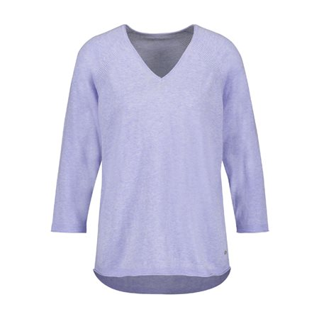 Gerry Weber Fine V-Neck Jumper Purple  - Click to view a larger image