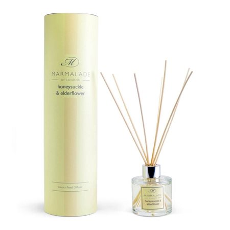 Marmalade Of London Honeysuckle & Elderflower Reed Diffuser Yellow  - Click to view a larger image