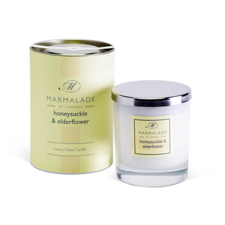 Marmalade Of London Honeysuckle & Elderflower Large Class Candle Yellow  - Click to view a larger image