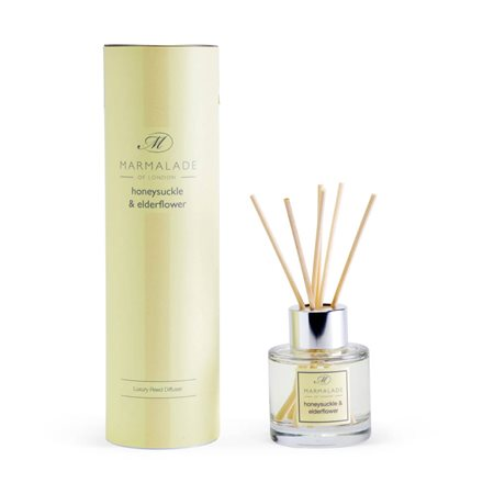 Marmalade Of London Honeysuckle & Elderflower Travel Reed Diffuser Yellow  - Click to view a larger image