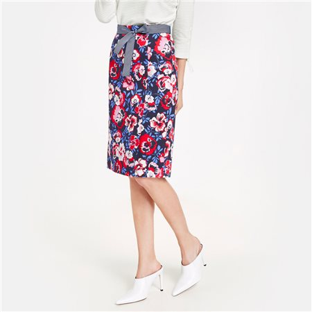 Gerry Weber Stretch Cotton Skirt Blue  - Click to view a larger image