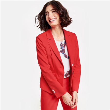 Gerry Weber Deep Lapel Blazer Red  - Click to view a larger image