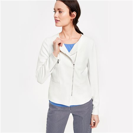 Gerry Weber Blazer With Zip Detail White  - Click to view a larger image