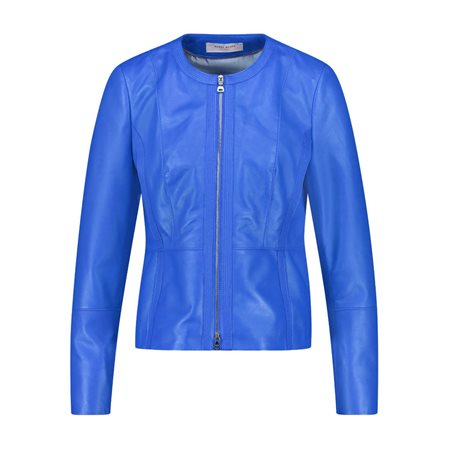 Gerry Weber Nappa Leather Jacket Blue  - Click to view a larger image