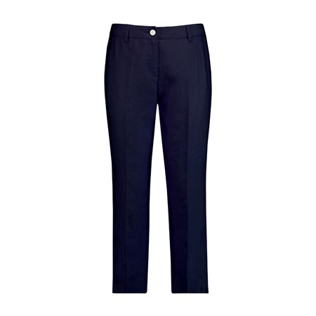 Gerry Weber Cropped Linen Trousers Blue  - Click to view a larger image