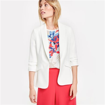 Taifun 3/4 Sleeve Blazer White  - Click to view a larger image
