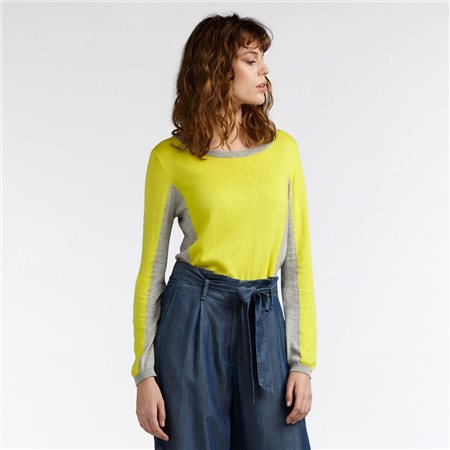Sandwich Colour Block Sweater Yellow  - Click to view a larger image
