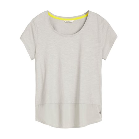Sandwich Jersey Top With Hem Grey  - Click to view a larger image