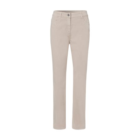 Olsen Mona Slim Trousers Beige  - Click to view a larger image