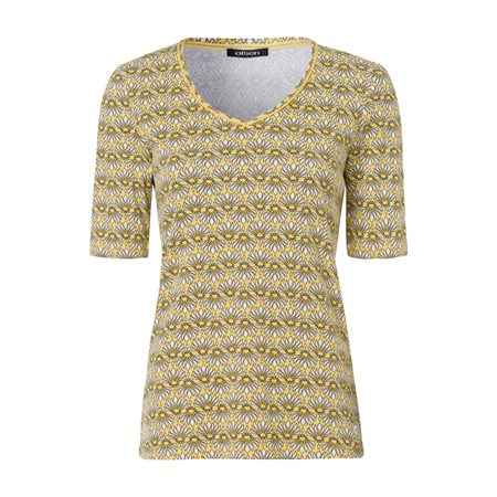 Olsen Daisy Printed Top Yellow  - Click to view a larger image