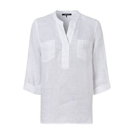 Olsen Linen Blouse White  - Click to view a larger image
