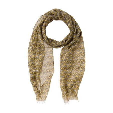 Olsen Daisy Printed Scarf Yellow  - Click to view a larger image