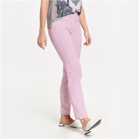Gerry Weber Cropped Trousers With Hem Zip Lilac  - Click to view a larger image
