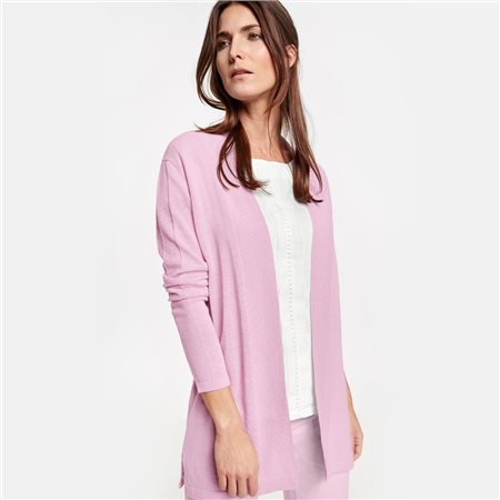 Gerry Weber Long Open Cardigan Lilac  - Click to view a larger image