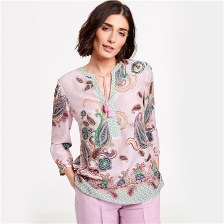 Gerry Weber Paisley Patterned Blouse Pink  - Click to view a larger image
