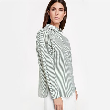 Gerry Weber Striped Shirt Green  - Click to view a larger image