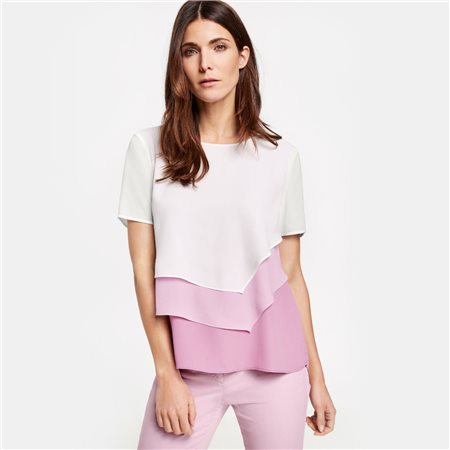 Gerry Weber Pastel Layered Blouse Pink  - Click to view a larger image