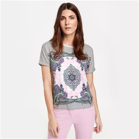 Gerry Weber Ethnic Print Top Green  - Click to view a larger image