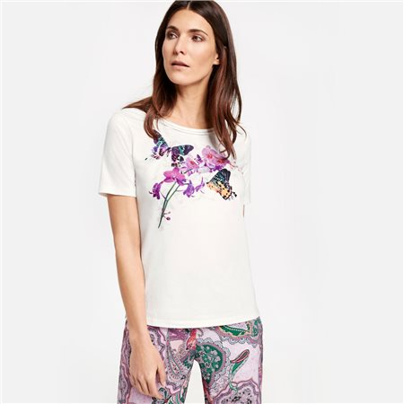 Gerry Weber Floral Print Top White  - Click to view a larger image