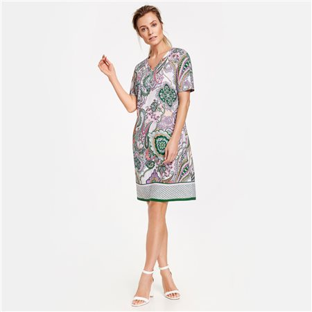 Gerry Weber Paisley Print Dress Pink  - Click to view a larger image