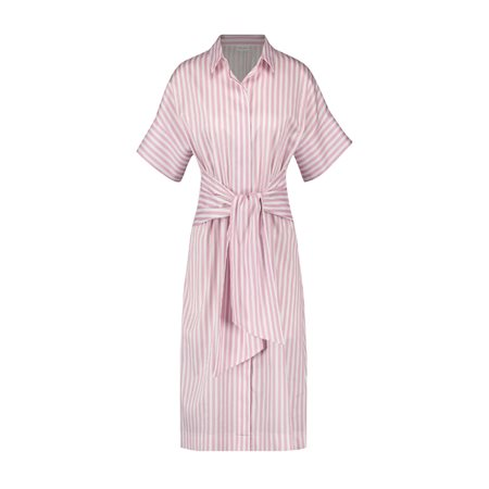 Gerry Weber Shirt Dress With Tie Belt Pink  - Click to view a larger image