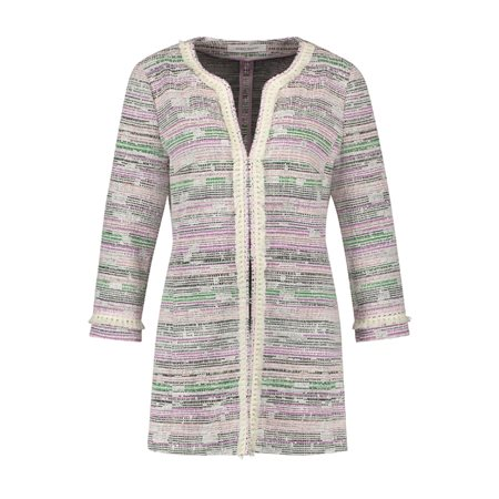 Gerry Weber Multi Stitch Jacket Green  - Click to view a larger image