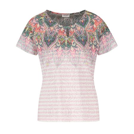 Gerry Weber Tribal Print Top Pink  - Click to view a larger image