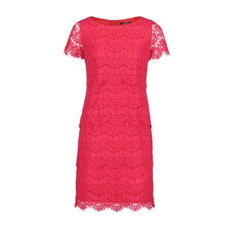 Vera Mont Cap Sleeve Lace Dress Pink  - Click to view a larger image
