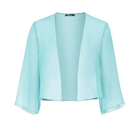 Vera Mont Chiffon Jacket Blue  - Click to view a larger image