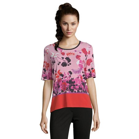 Betty Barclay Floral Print Top Red  - Click to view a larger image