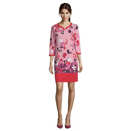 Betty Barclay Floral Print Dress Red  - Click to view a larger image
