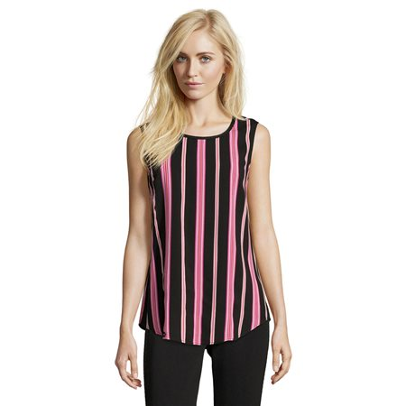 Betty Barclay Striped Sleeveless Top Black  - Click to view a larger image