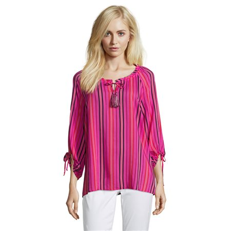Betty Barclay Striped Blouse Pink  - Click to view a larger image