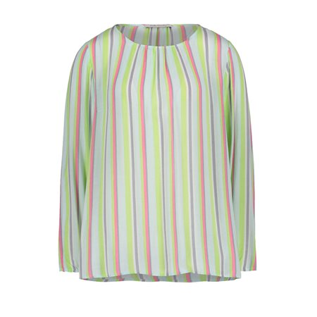 Betty Barclay Pastel Stripe Blouse Green  - Click to view a larger image